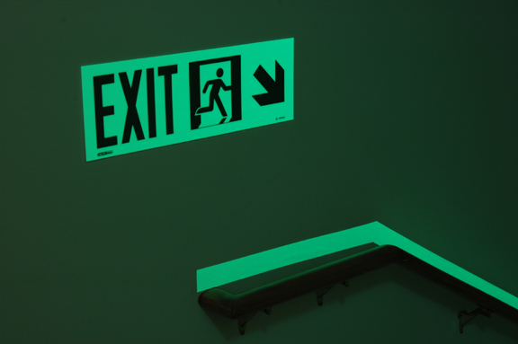 Photoluminescent Exit Signs